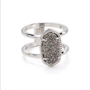 Kendra Scott Elyse Ring - Platinum Drusy